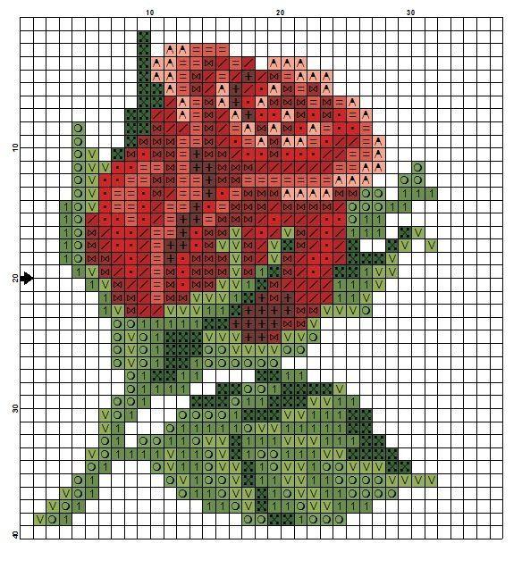 Схем вышивки бисером роза 142