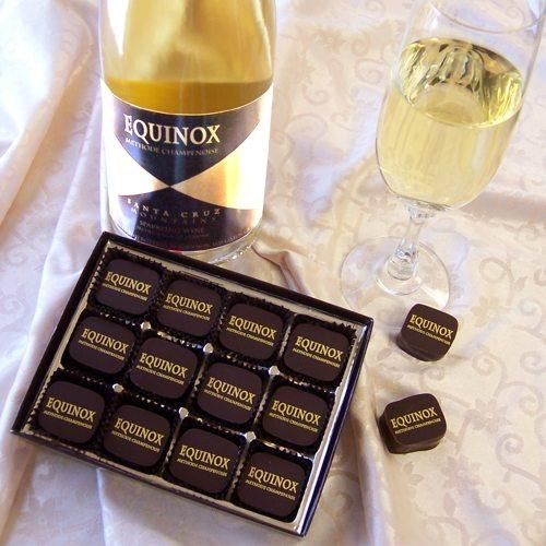 These chocolates, made with an award winning California sparkling wine ...