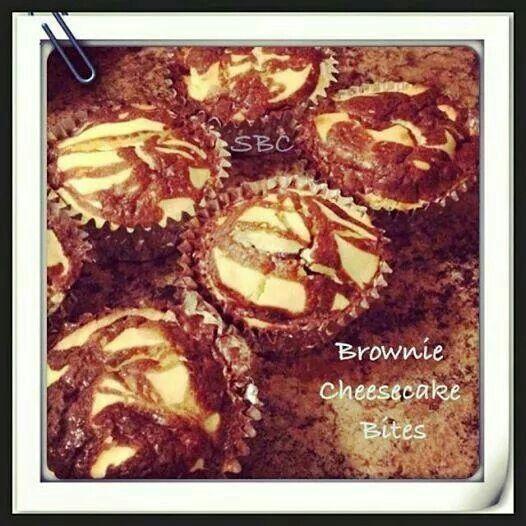 Brownie Cheese Cake Bites | Brownie Recipes | Pinterest