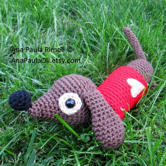 Dachshund Dog crochet pattern - PDF Digital Download