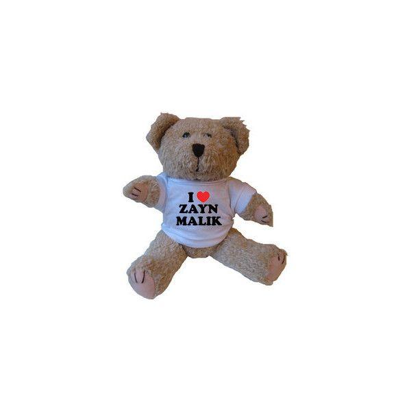 Love Zayn Malik Teddy Bear Can Print Any Name liked on PolyvoreZayn Malik Sleeping With Teddy Bear