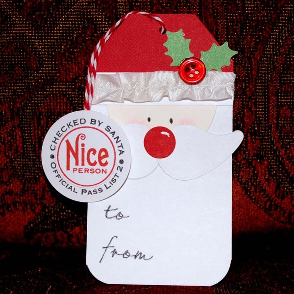Santa gift tag christmas tags pinterest for Christmas tags on pinterest