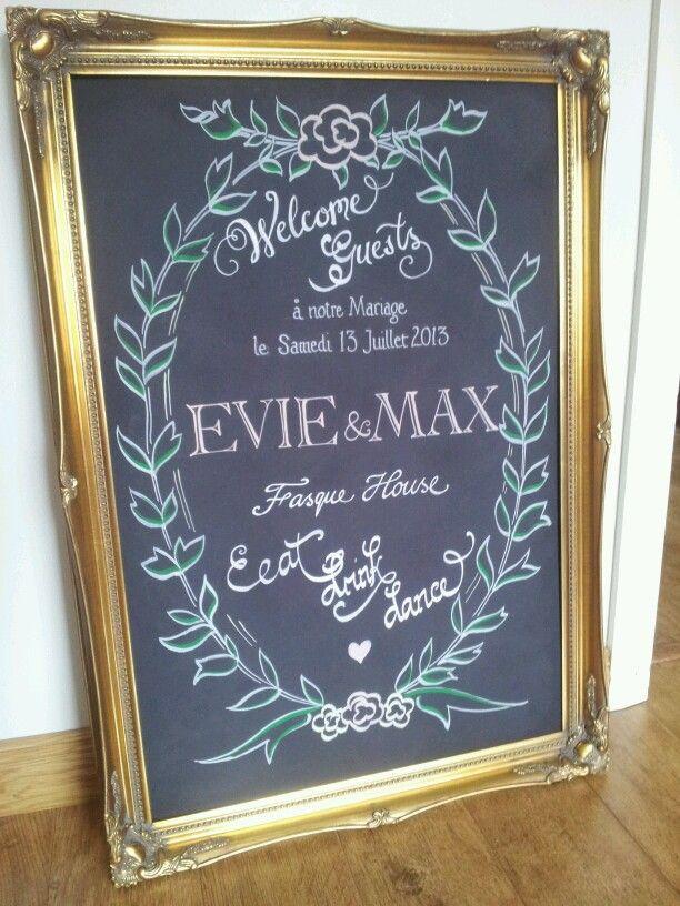 chalkboard wedding signs pinterest wedding chalkboard sign