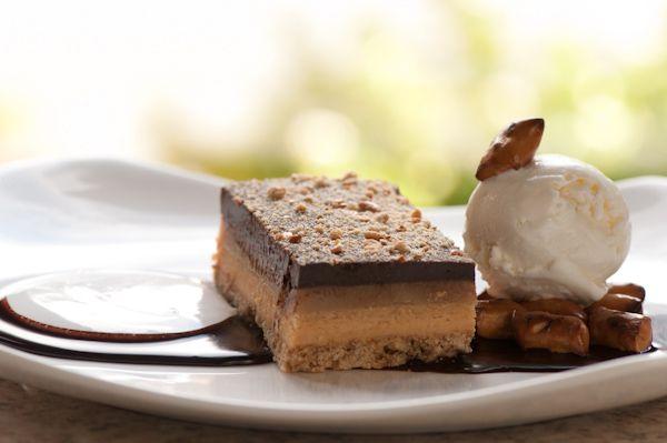 ... , Peanut Butter Mousse, Caramel, Chocolate Ganache, Vanilla Ice Cream
