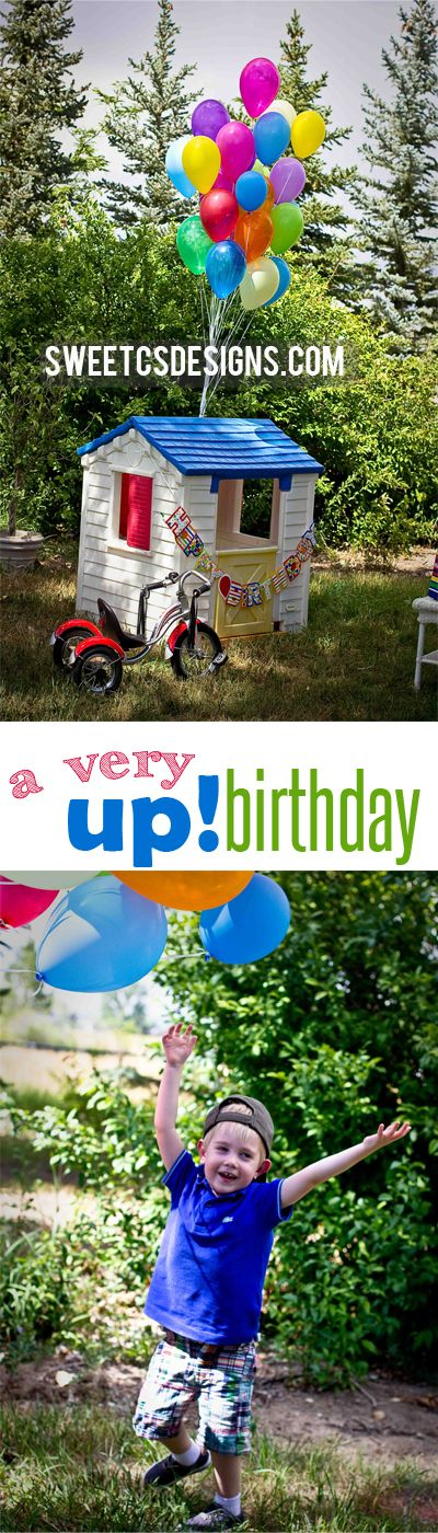 quick and easy up! inspired birthday surprise for a little kids birthday- great tips for stress free parties that wont overstimulate young children or those with sensory issues at sweetcsdesignscom!