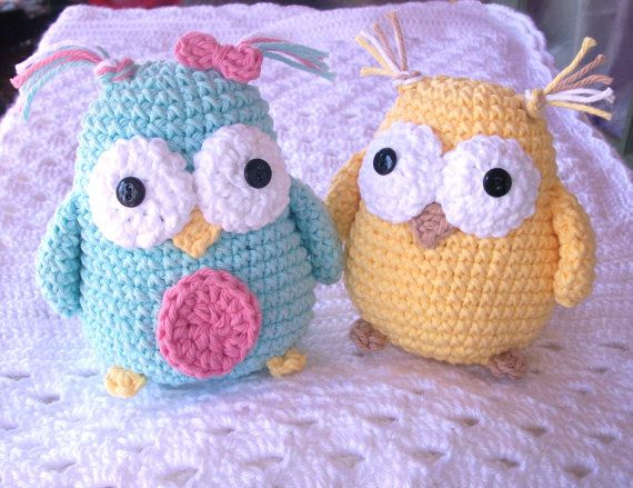 Amigurumi Stuffed Animals Patterns : Crochet Owl Toy Stuffed Animal Amigurumi