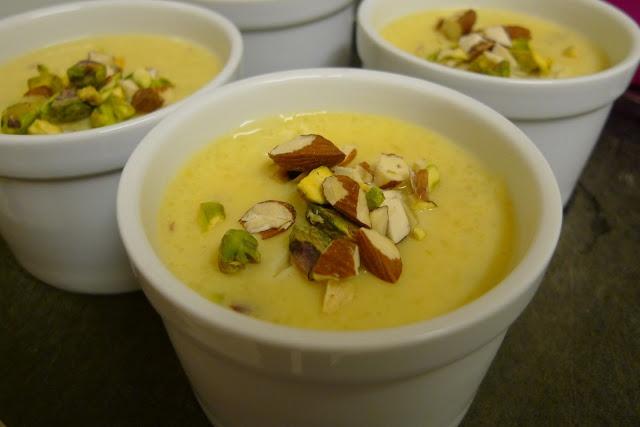 Phirni (Indian Spiced Rice Pudding dessert - delicious!) #vegan