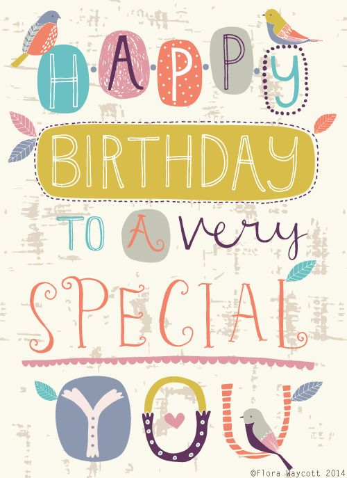 Happy Birthday card Florawaycottdesign