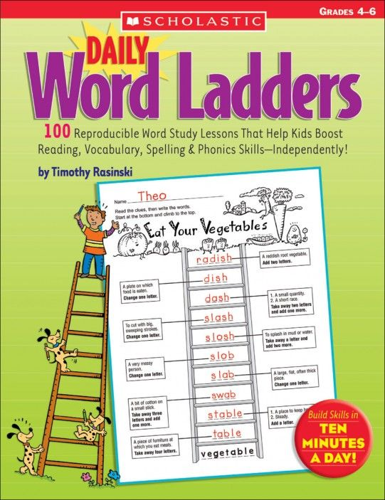 Daily Word Ladders Grades 4 6 Spelling Pinterest
