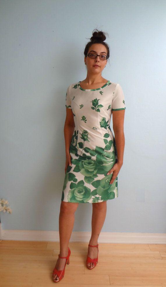 Vintage Garden Party Mini Dress Size S M White