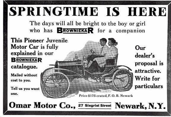 1909 Browniekar Advertisement