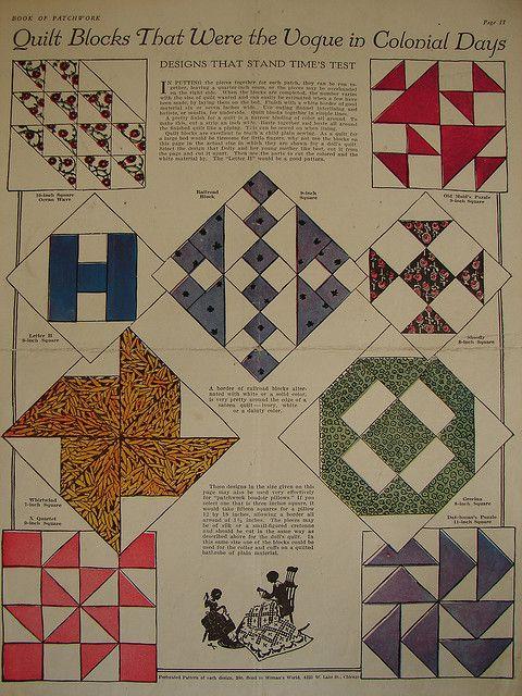vintage quilt block patterns