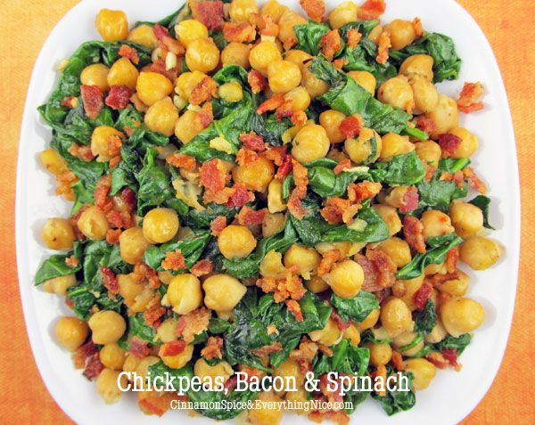 Chickpeas, Bacon and Spinach | Recipe