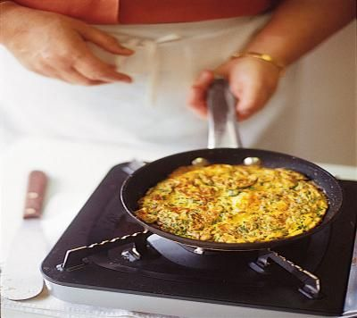 Ricotta And Herb Frittata Recipe — Dishmaps
