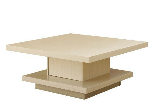 Coffee Table Square Shape Table Top Center Support Is A Hidden