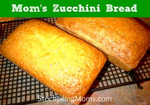 "Mom's"" zucchini bread. Good, but next time I'll add more salt. A..."