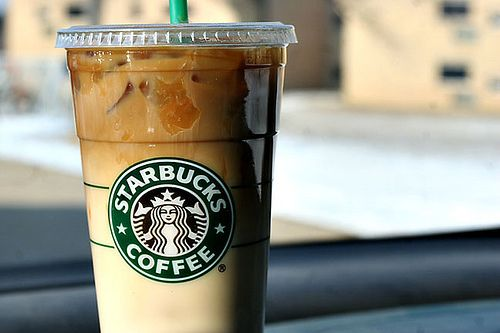 Iced Grande Skinny Caramel Macchiato  -140 cals, 1 g fat, 21g carbs, 11 g protein. Delicious! one of my faves :)