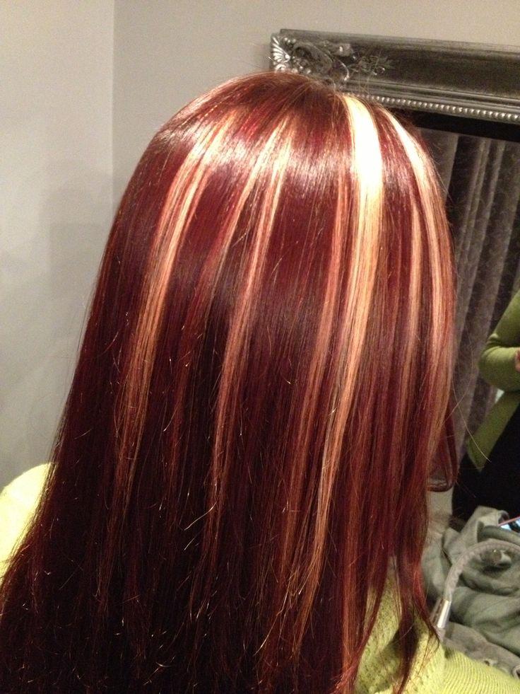 Mahogany Hair With Blonde Highlights | hnczcyw.com