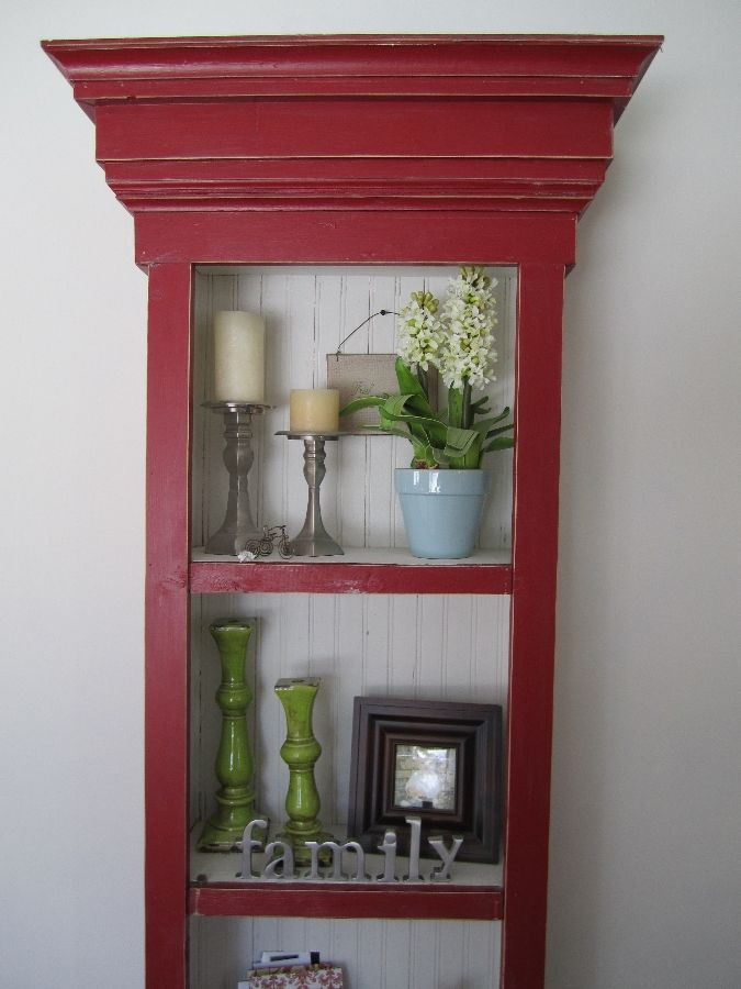 red distressed furniture for tv console