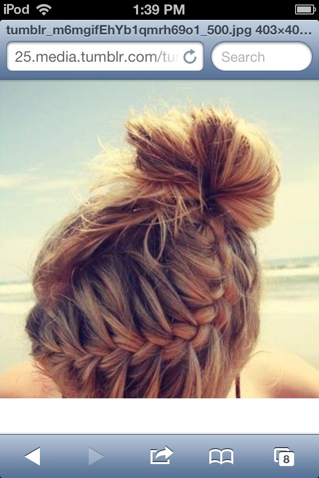 Tumblr hair  braid and bunHair Tumblr Braid