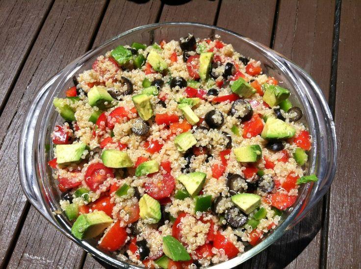 Easy Quinoa Salad   foodie dreams   Pinterest