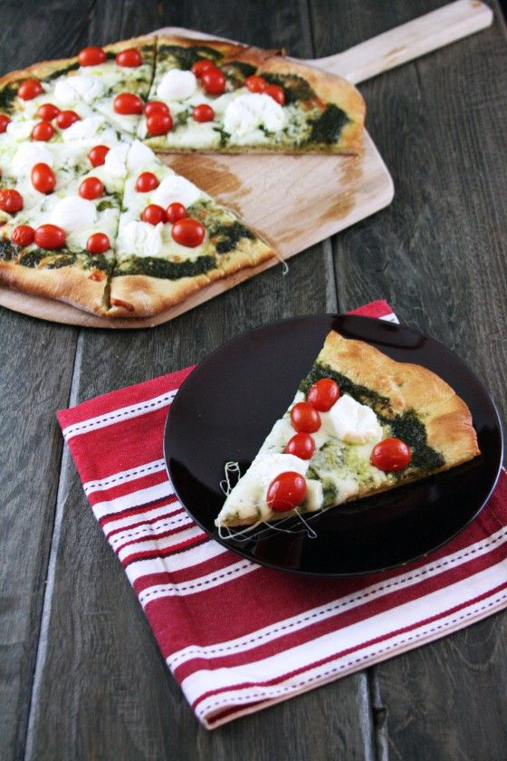 Pesto, Ricotta, and Cherry Tomato Pizza | Recipe
