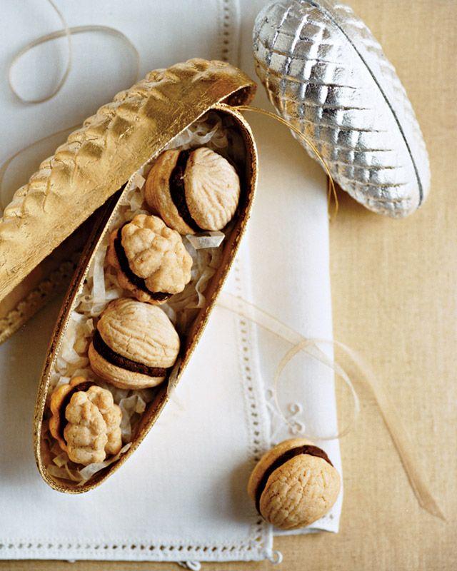 walnut cookies by marthastewart # christmas cookies # walnut