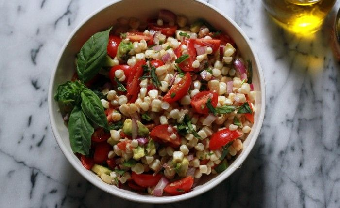 Fresh corn and tomato salad | Appetizers and Salads | Pinterest