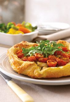 Chicken, Pesto and Cherry Tomato Tart | Recipes I want to try | Pinte ...