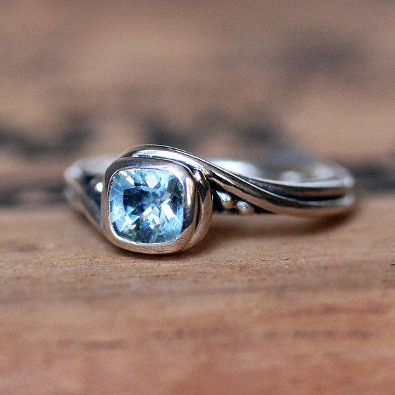 aquamarine engagement ring unique alternative engagement