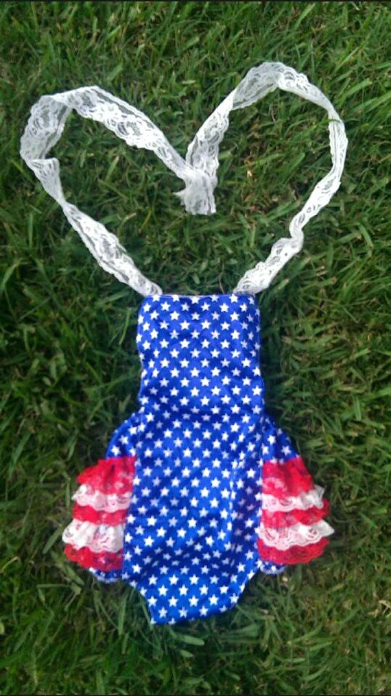 baby girl 4th of july bathing suit
