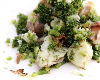 Smashed Potato Salad Recipe | The Daily Meal