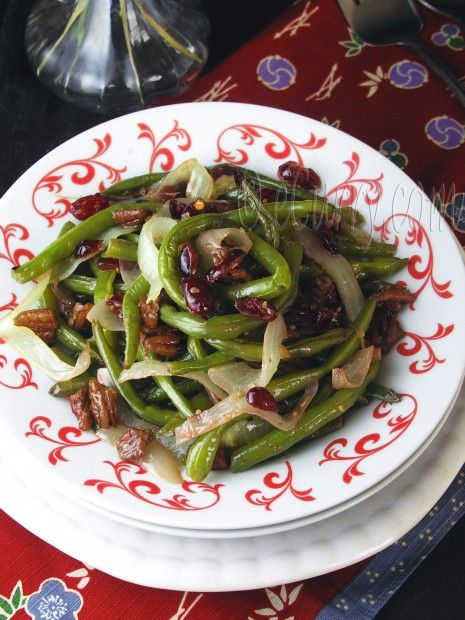 Green Beans with Pecans & Cranberries | Salads | Pinterest