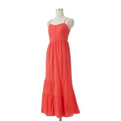 SONOMA life + style Crinkle Empire Maxi Dress