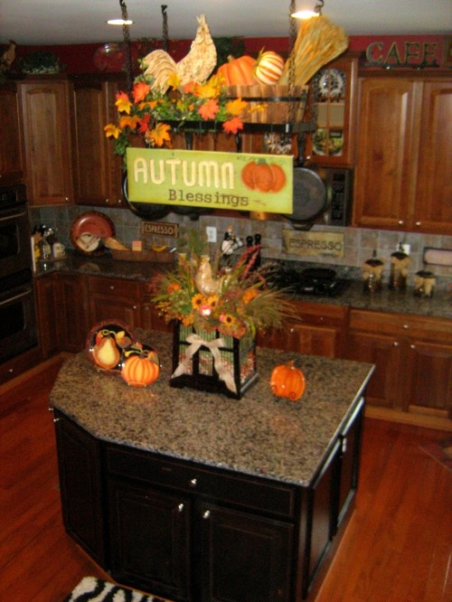 fall decor for kitchen the leaves are falling