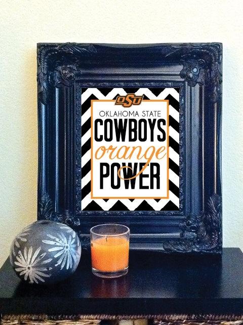 Orange Power!  Oklahoma State University!  Gonna make this for sure!