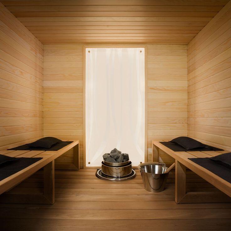 simple sauna interior sauna steam room pinterest
