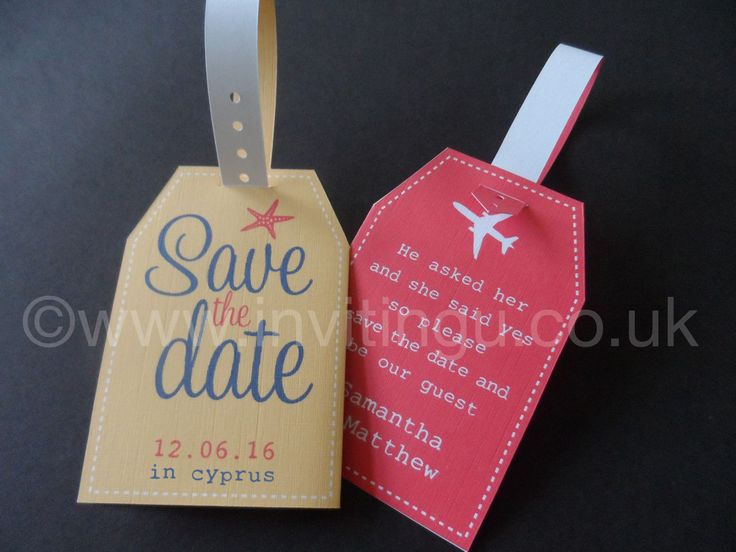 Luggage Tag Wedding Invitations for perfect invitations example