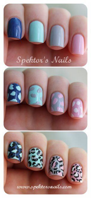 How to do Leopard Skittle Nails