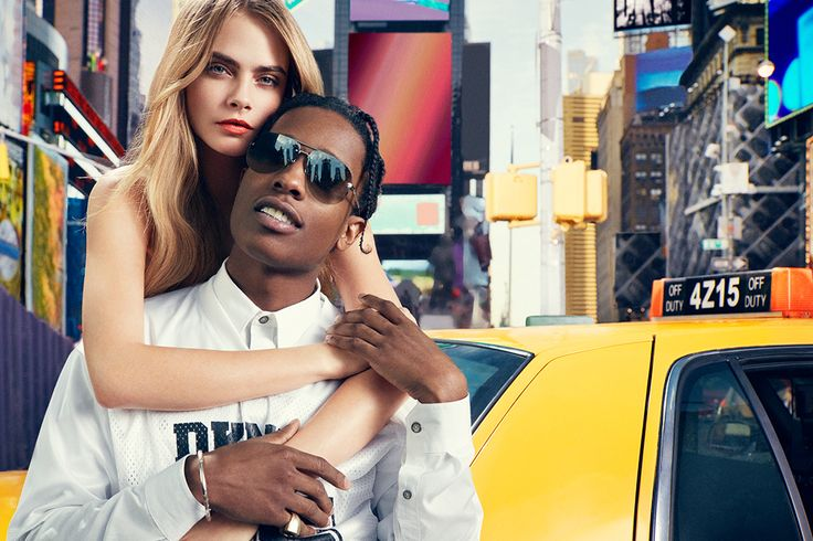 ASAP Rocky and Cara Delevingne for DKNY