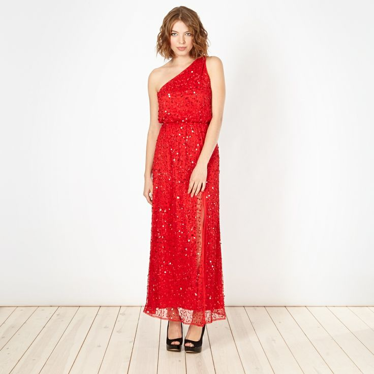 Shine in this formal sequin maxi dress christmas dress