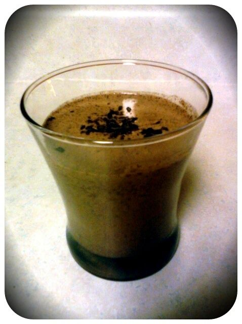 Mint chocolate chip protein shake. Check out my blog c-fit.livejournal ...