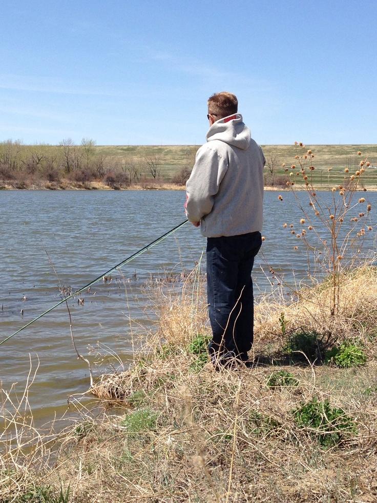 Charlie fishing in pierre south dakota during his mom 39 s for South dakota fishing