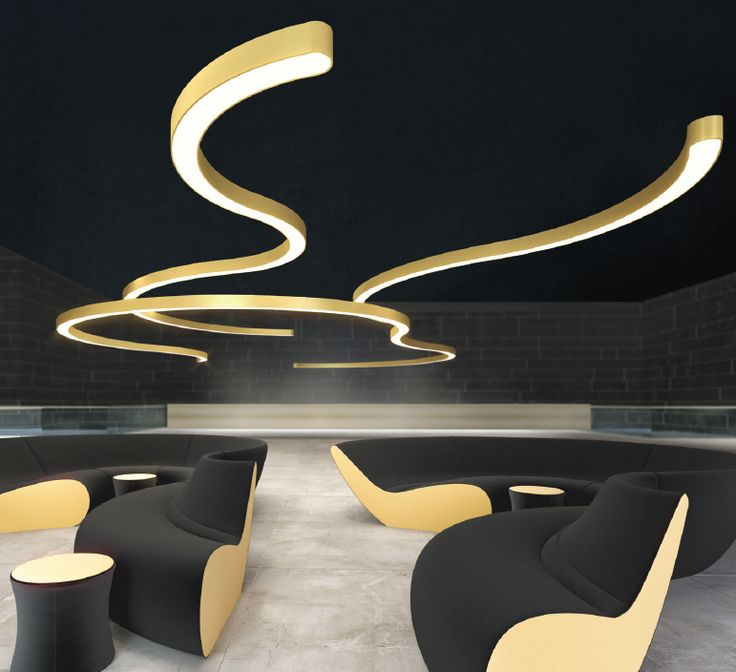 SUPER-G LED SUSPENSION Prolicht DARK / design / colors / architectural ...