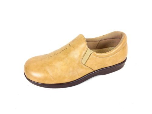 SAS Tripad Shoes Leather Beige Comfort Slip on Casual Loafers Womens 8
