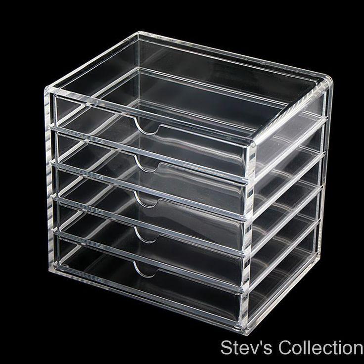 muji acrylic multipurpose makeup organizer case 5 drawers