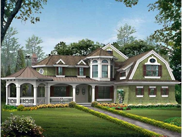 Cool Craftsman With Gambrel Hip Roof Design Of House