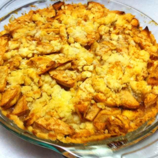 Apple pie Crust made with gluten free bisquic, water, butter!