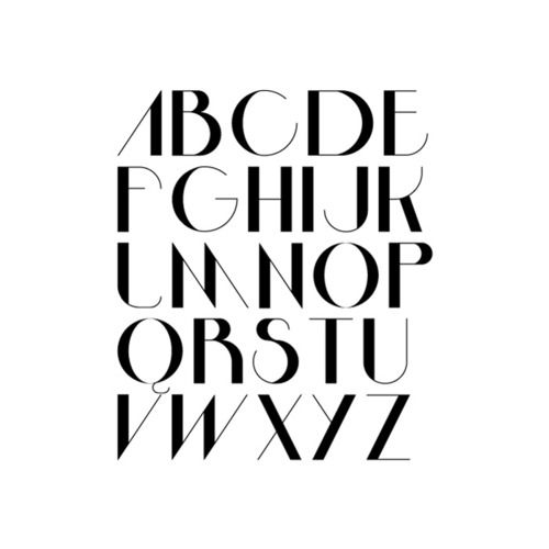 Bossa Nova Display Type  by Arthur W. Presser