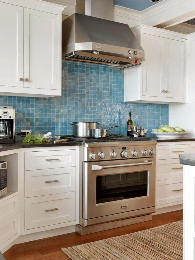Blue Backsplash Kitchen Sky Blue Glass Subway Tile Subway Tile Outlet Transitional Kitchen